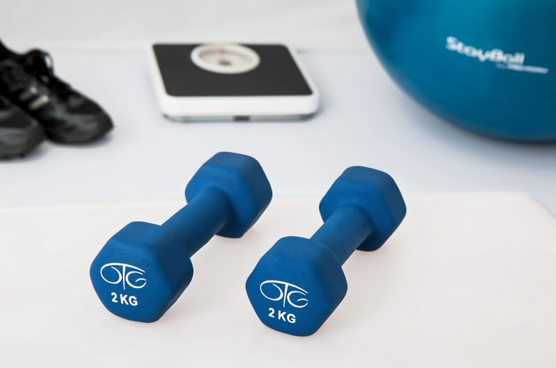 Weights and Workout Ball