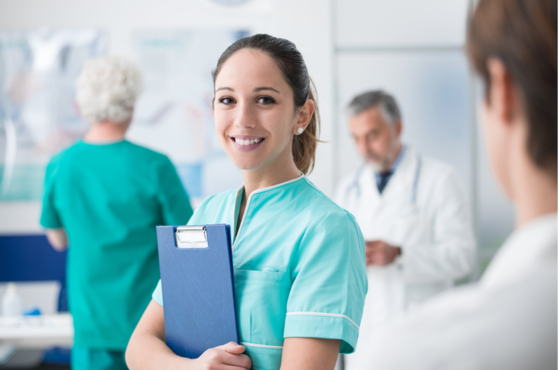 Medical Assistant Smiling